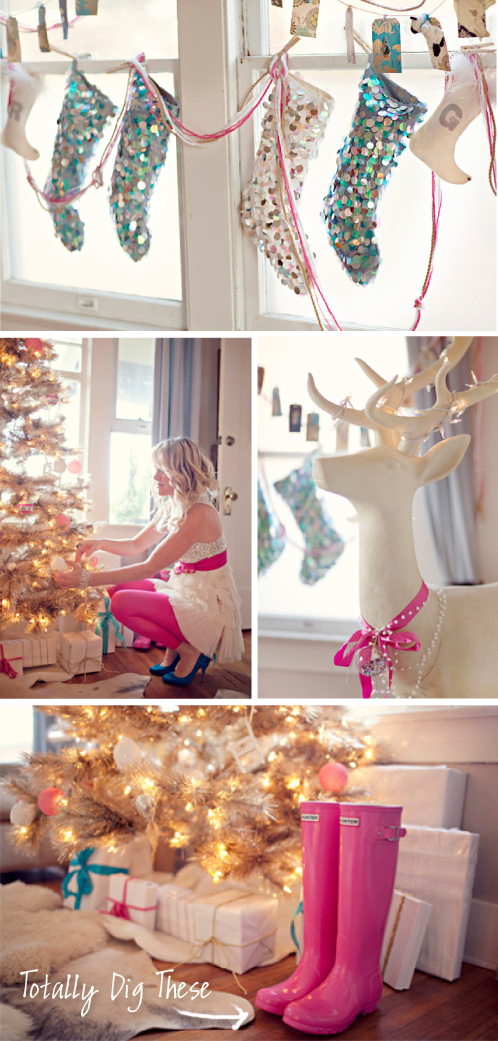 Christmas Love  |  Blue & White Christmas | via colourfulcarla.com