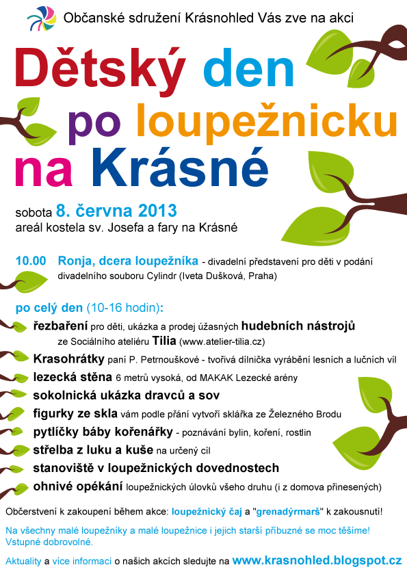 Dětský den 2013 na Krásné - plakát
