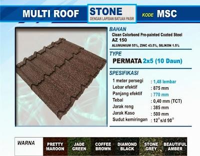genteng multiroof berpasir stone permata