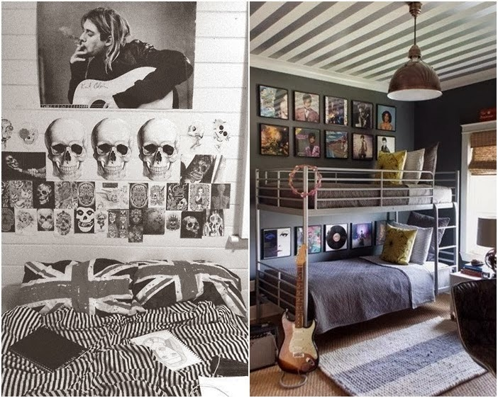 Design, decoração e outras coisas O quarto do Rock