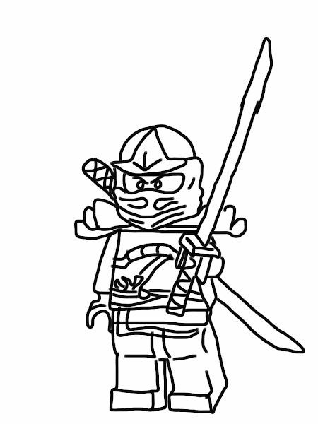 Green Ninjago Coloring Pages