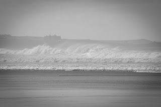 Massive waves at watergate bay. Cornwall