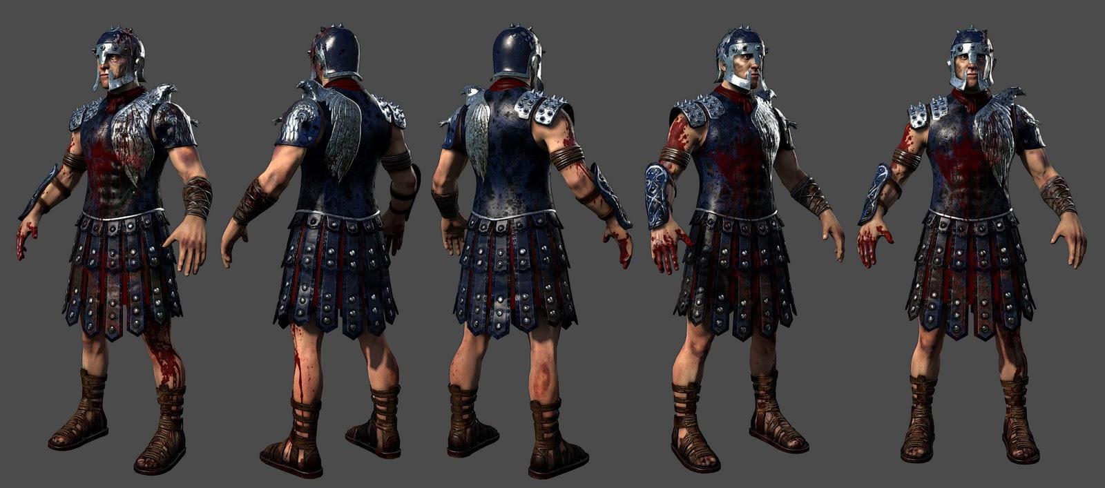 character artist roman soldier