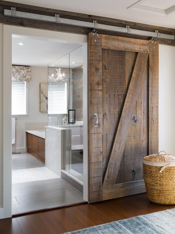 Rustic Barn Door A Perfect Compliment To The Ultra Modern