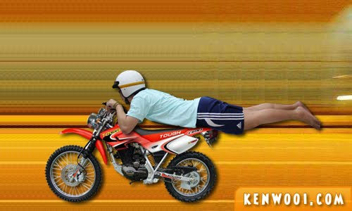 mat rempit pose superman