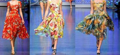 vestidos con flores de dolce&gabbana