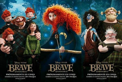 Posters de Brave (Indomable), película de Disney y Pixar. LA TAQUILLA. Making Of