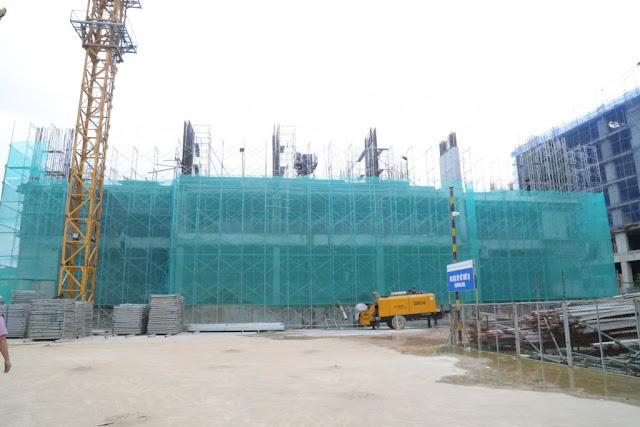 Tiến độ xây dựng tòa Diamond