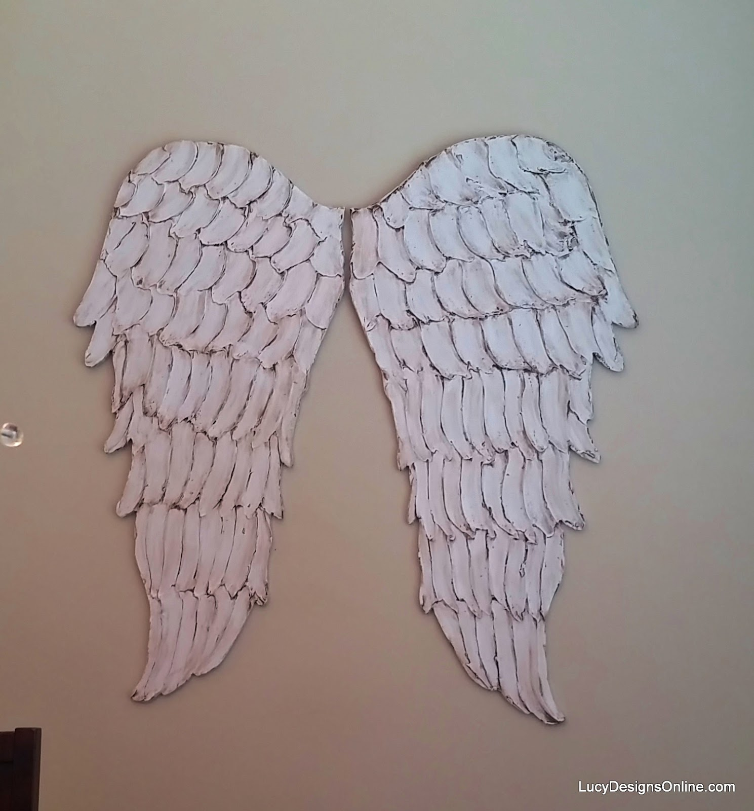 Wooden Angel Wings Wall Decor wood angel wings wall art, large carved look wooden angel wings