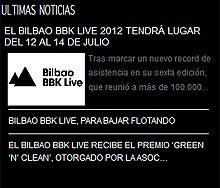 El Bilbao BBK Live Festival 2012 del 12 al 14 de julio