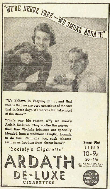 vintage 30s ad about smoking for health