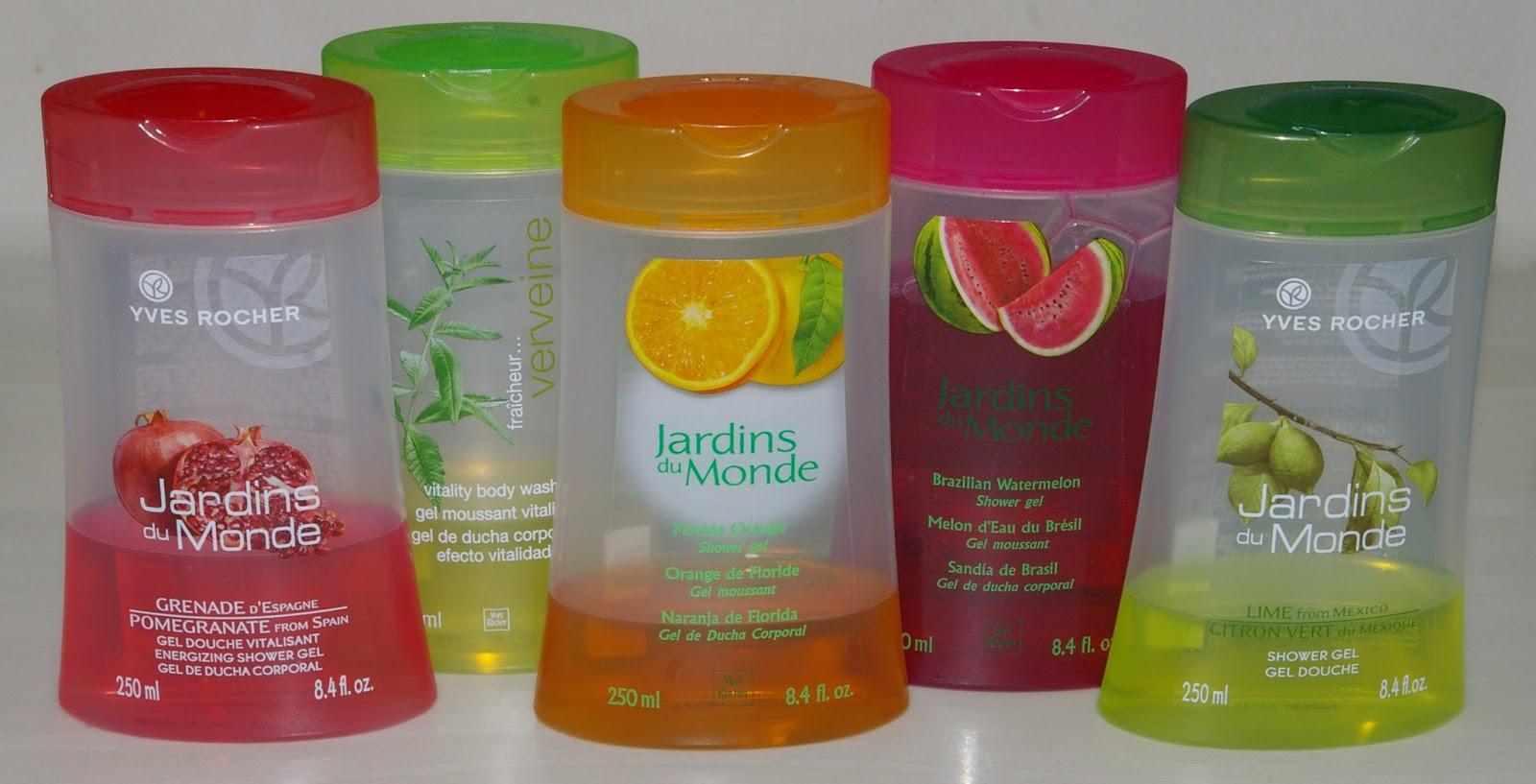 The polish jinx yves rocher jardins du monde shower gels for Jardin yves rocher