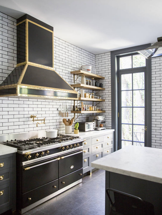 Grey Kitchen with Subway Tile BAS Blog