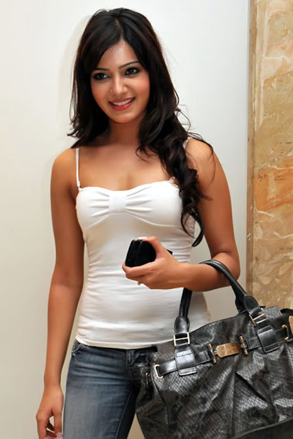 Samantha posing in white top - (4) - Beautiful babe Samantha white top HOT HiT pics