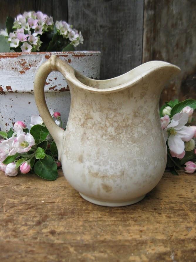 primitive ironstone pitcher