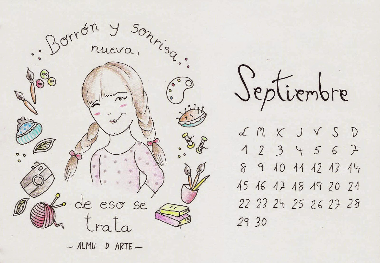 Calendario Almu d Arte