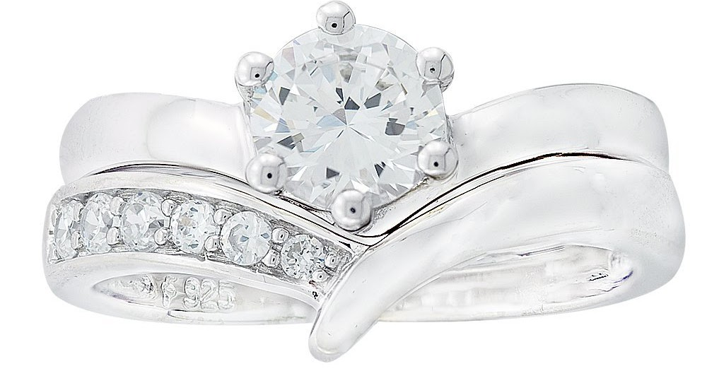 Sterling Silver Cubic Zirconia Wedding Rings Sets 43 Amazing Platinum Plated Sterling Silver