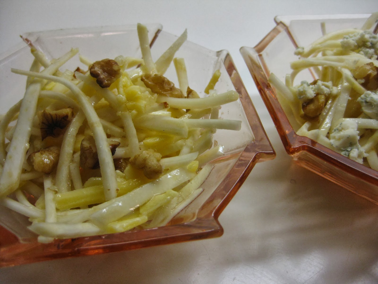 Celeriac salad with apple and walnuts