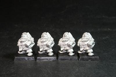 Tercero de los cuatro modelos de los Bugman's Dwarf Rangers