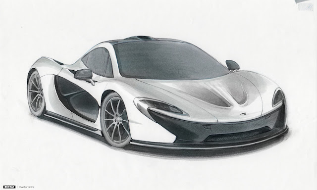 McLaren P1 marker drawing