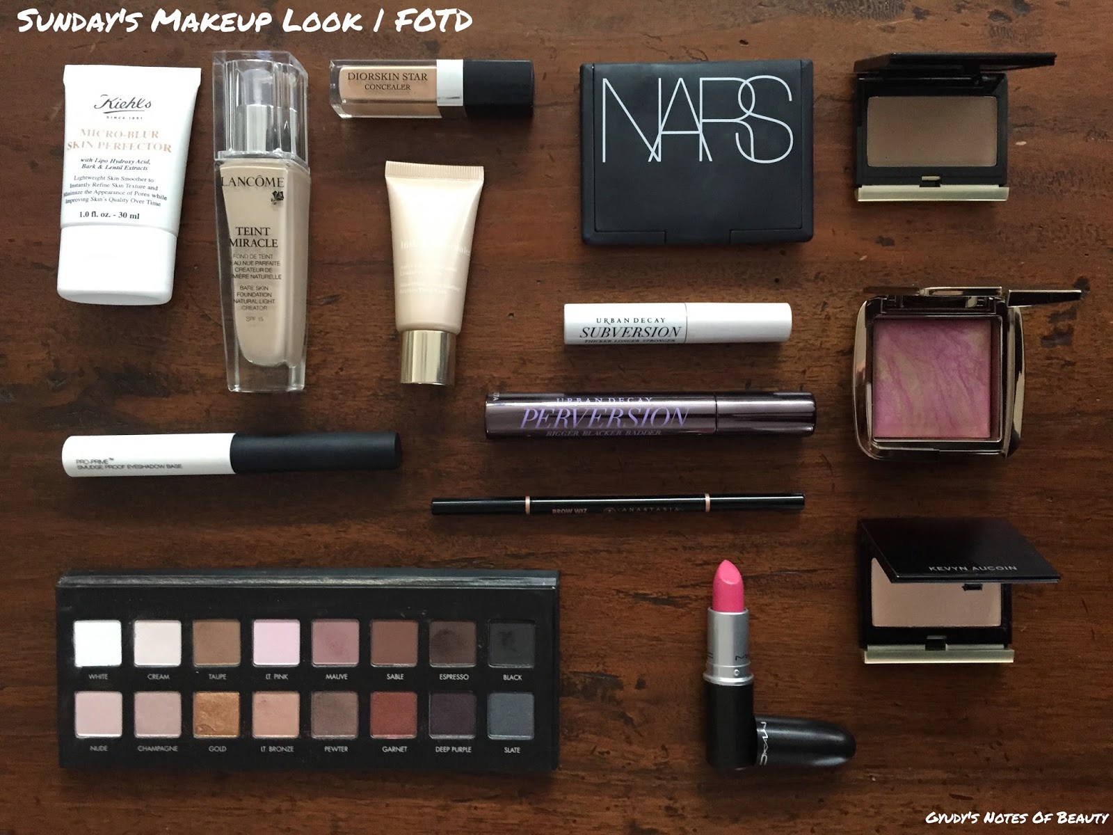Nars Lorac Hourglass Urban Decay Lancome Kevin Aucoin Kiehl's Dior Clarins Anastasia MAC