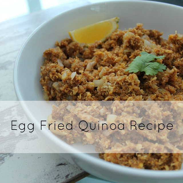 Egg Fried Quinoa Recipe Title Image
