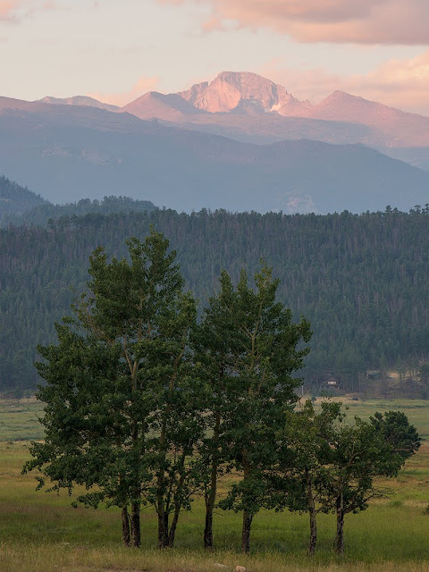Longs Peak in summer in Rocky Mountain National Park Colorado