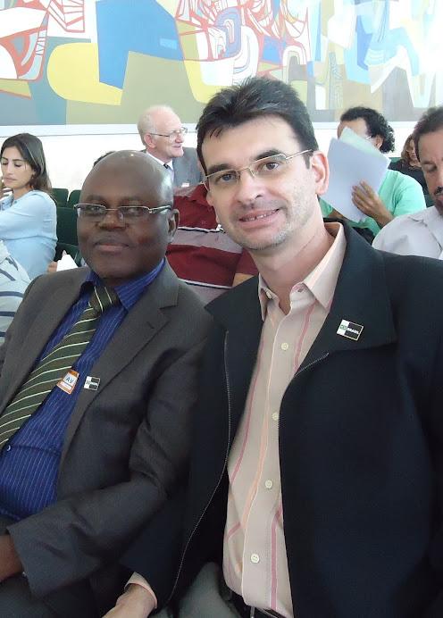 Prof. Pedro Kitoko e Alcemi Barros - posse Consea Nacional