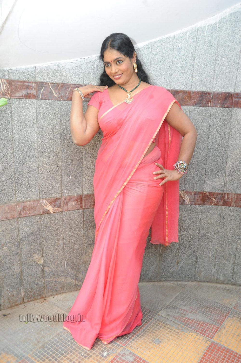 Jayavani Latest Hot Saree Photos Gallery