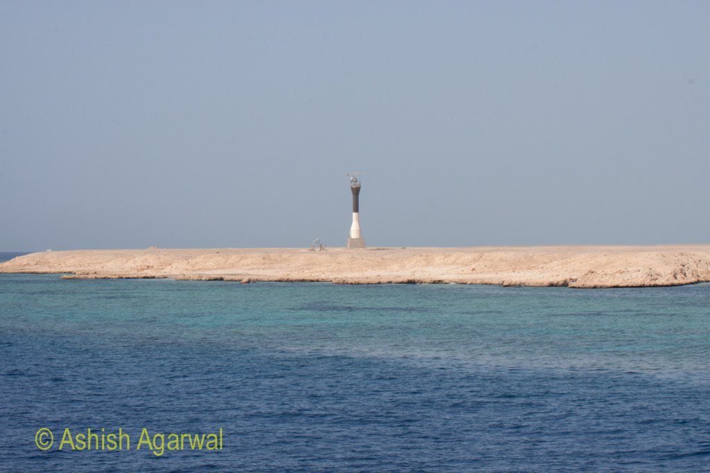 An obervatory kind of structure on the coast near the coral reefs near Sharm el Sheikh