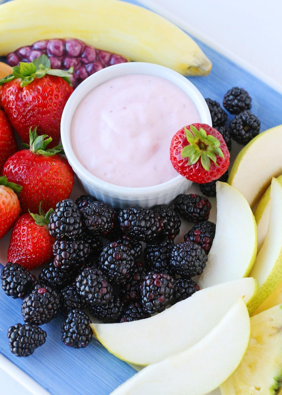 Strawberry Yogurt Fruit Dip {Recipe} – Glorious Treats