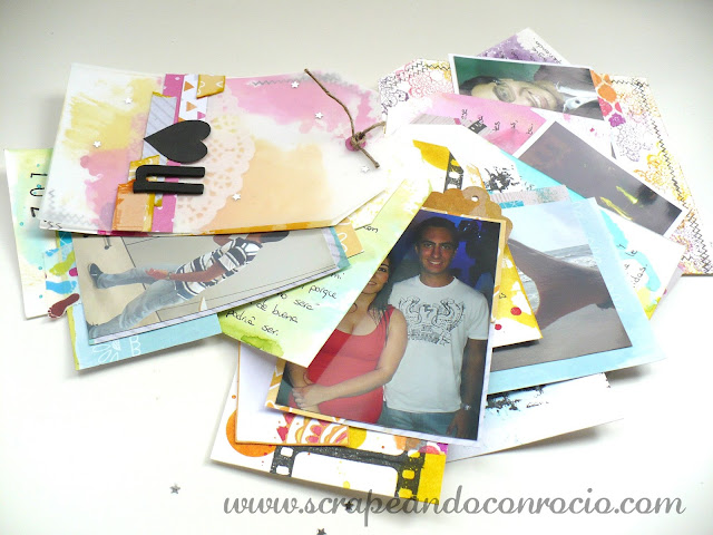 Album de tags scrapbooking mixed media