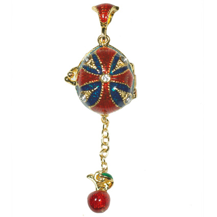 PUGSTER BEAD HOLIDAY GIFT RED DRIP GUM FABERGE EGG CHARM K16 | eBay