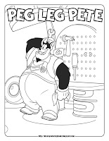mickey mouse coloring pages coloring sheets pete
