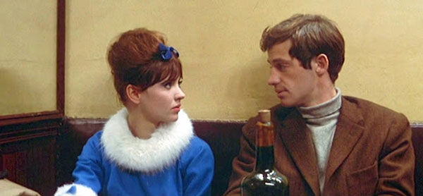 Anna Karina and Jean-Paul Belmondo in A Woman is a Woman