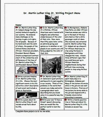 Outline Martin Luther King Jr. Biography