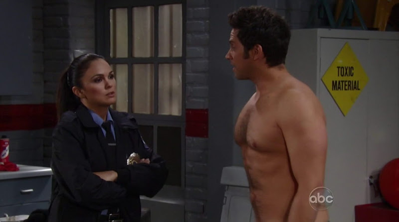 Brandon Barash Shirtless in General Hospital 20111201