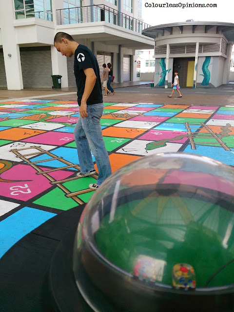 Artsphere 208ty @ The Atmosphere Seri Kembangan - 3D Street Art Murals Photo - live snake and ladders