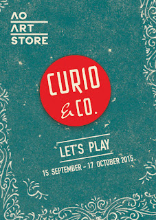 Curio & Co. Let's Play - Art show at Atelier Olschisky Art Store - 15 September - 17 October, 2015 (Designer and illustrator Cesare Asaro with writer Kirstie Shepherd - Curio and Co. OG - www.curioandco.com)