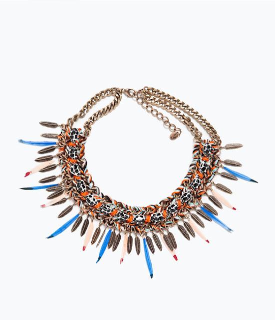 Colar étnico da Zara bijuteria coleção 2015