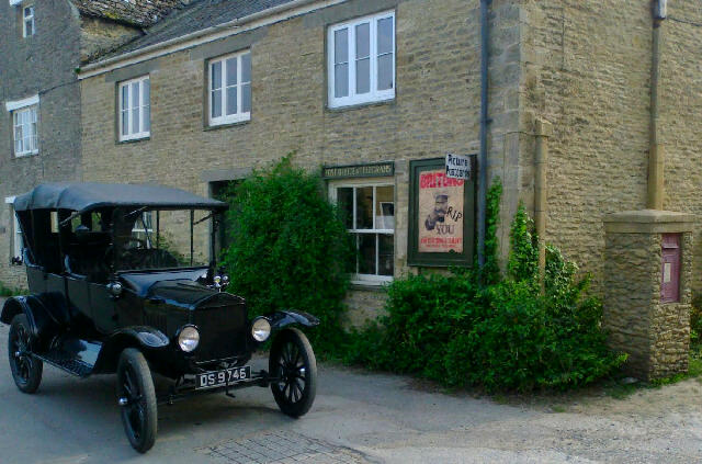 The post office from Downton Abbey in the village of Bampton