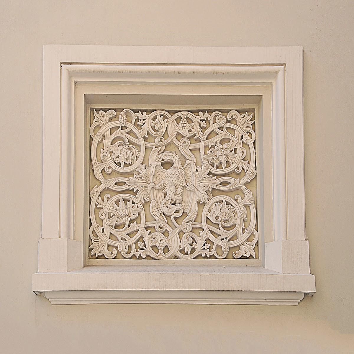 fresca, panou decorativ neoromanesc, Elemente decorative polistiren
