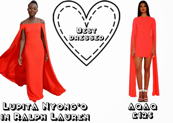 Steal Her style golden globes 2014 get the look red carpet fashion best dressed Lupita Nyong'o ralph lauren aqaq