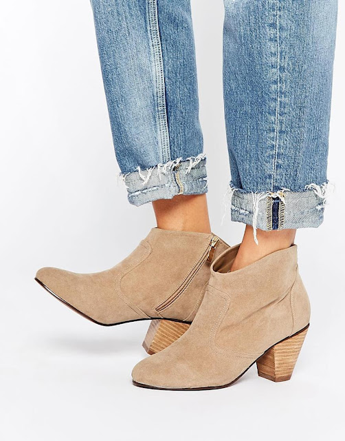 daisy street ankle boots, beige ankle boots,