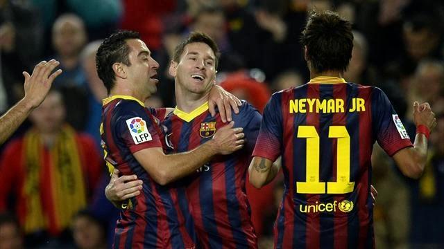 """برشلونة يقبل هدية """"ديربي مدريد"""" و يمطر الميريا برباعية"""
