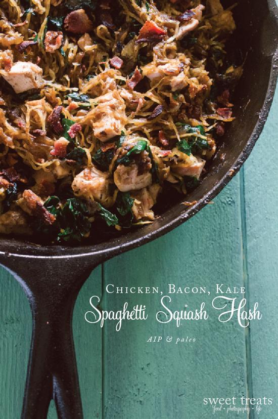 Chicken, Bacon, Kale & Spaghetti Squash Hash (AIP)