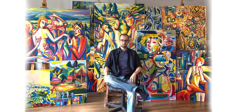 Maciej Cieśla Paintings and  Gallery | Abstract and expressive art  by European artist.