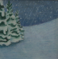 Snowy Hill and Trees