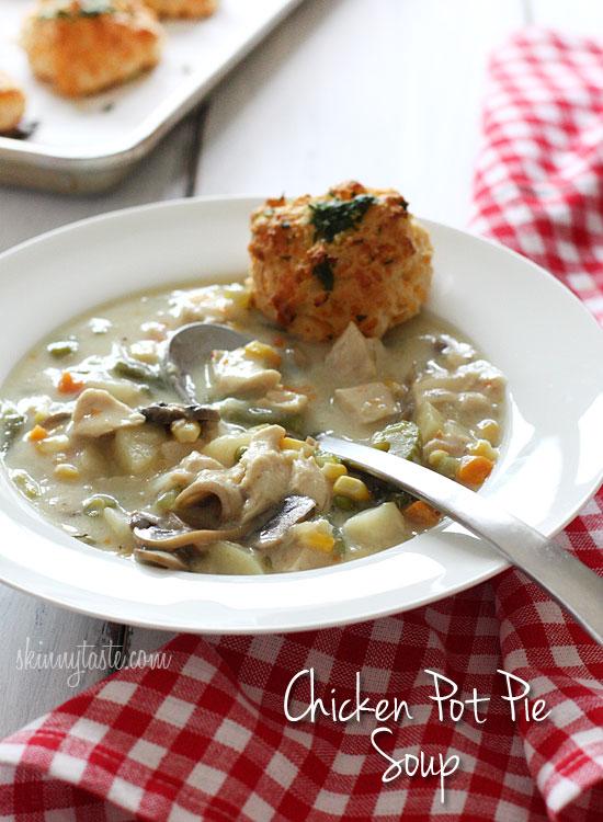 Chicken Pot Pie Soup | Skinnytaste