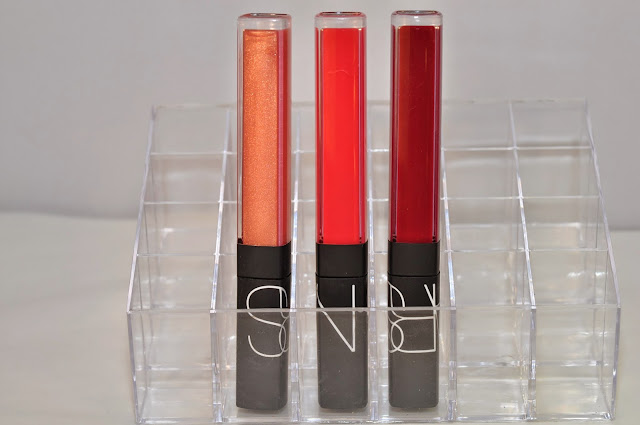 NARS Reformulated lipglosses in Orgasm, Salamanca and Quito